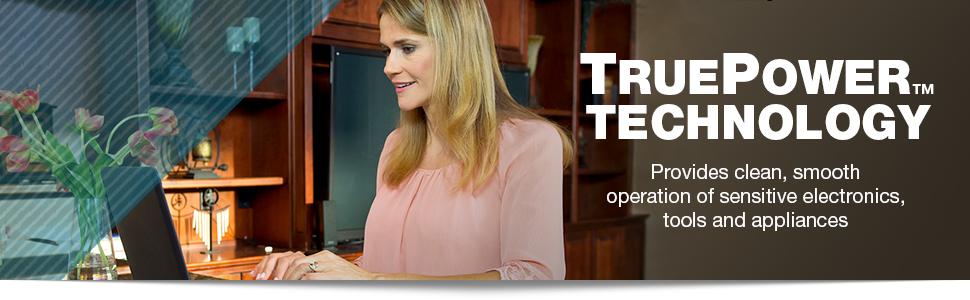 TruePower, TruePower technology, sensitive electronics, clean power, smooth operation