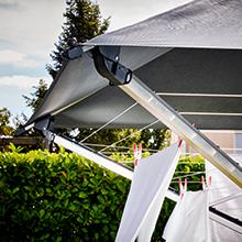 leifheit w scheschirm linoprotect 400 mit wasserdichtem dach w schespinne verl ngert die. Black Bedroom Furniture Sets. Home Design Ideas