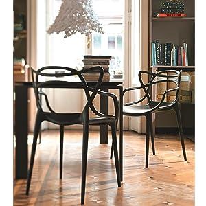 Kartell Masters 586503 Chaise Blanc Philippe Starck Mit Eugeni