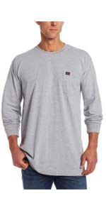 Black Wrangler Riggs Workwear Mens Big /& Tall Long Sleeve Henley X-Large//Tall