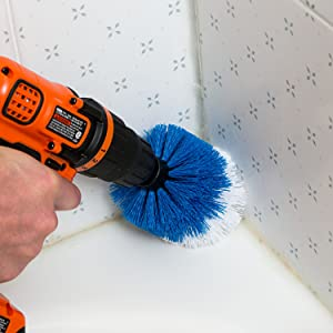 revoclean, revo clean, tile, grout clean, dirty grout, grout brush, drillbrush, drill brush