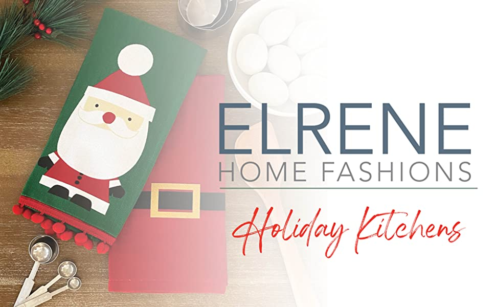 elrene home fashions holiday kitchen table textiles christmas