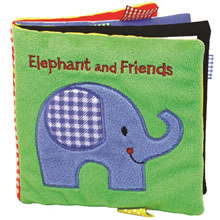 Elephant and Friends, elephant cloth book, elephant book, friends cloth book,