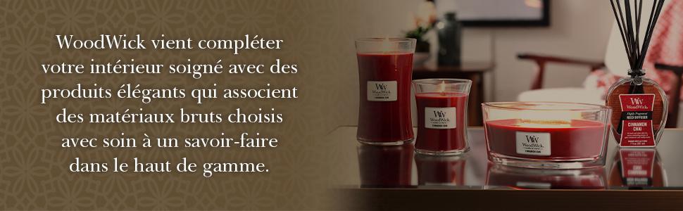 Fleurs sur la terrasse WoodWick Trilogy bougie jarre moyenne parfum/ée avec m/èche Pluswick