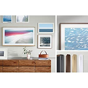 SAMSUNG 65-inch Class The Frame TV with Customizable Black Bezel 2020 Model
