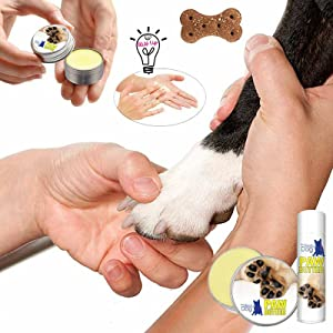 using dog paw butter