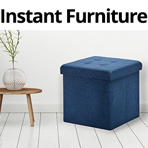 sevilleclassics folding fold foldable gray footrest ottoman box bin storage furniture cushion