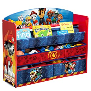Amazon Com Delta Children Deluxe Book Amp Toy Organizer