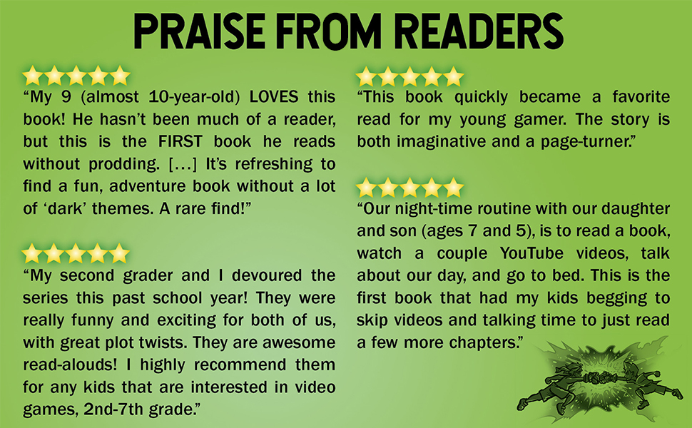 praise, trapped in a video game, video game book, kids review, middle school, middle grade, set - Trapped In A Video Game: The Complete Series