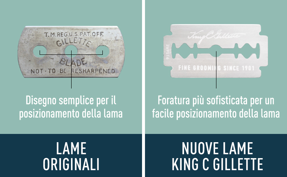 lame orginal vs nuove lame king c gillette