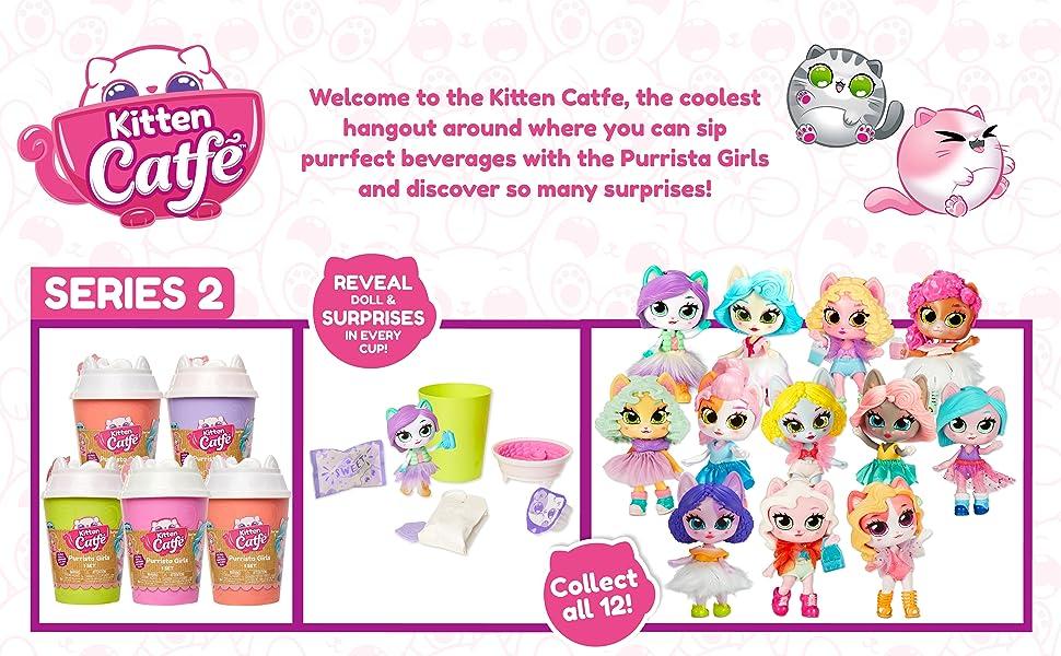 lol surprise, dolls, collectible, doll, café, Kitten Catfé, girls, toys, cat, kitten, barista, bloom
