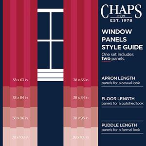 long curtains, short curtains, long curtain rods, double curtain rods, curtain rod set