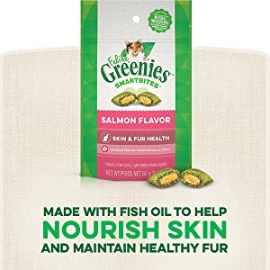 Fish Oil, Skin Health, Healthy Coat, Salmon Cat Treats, Feline Greenies, Greenies for Cats, Healthy