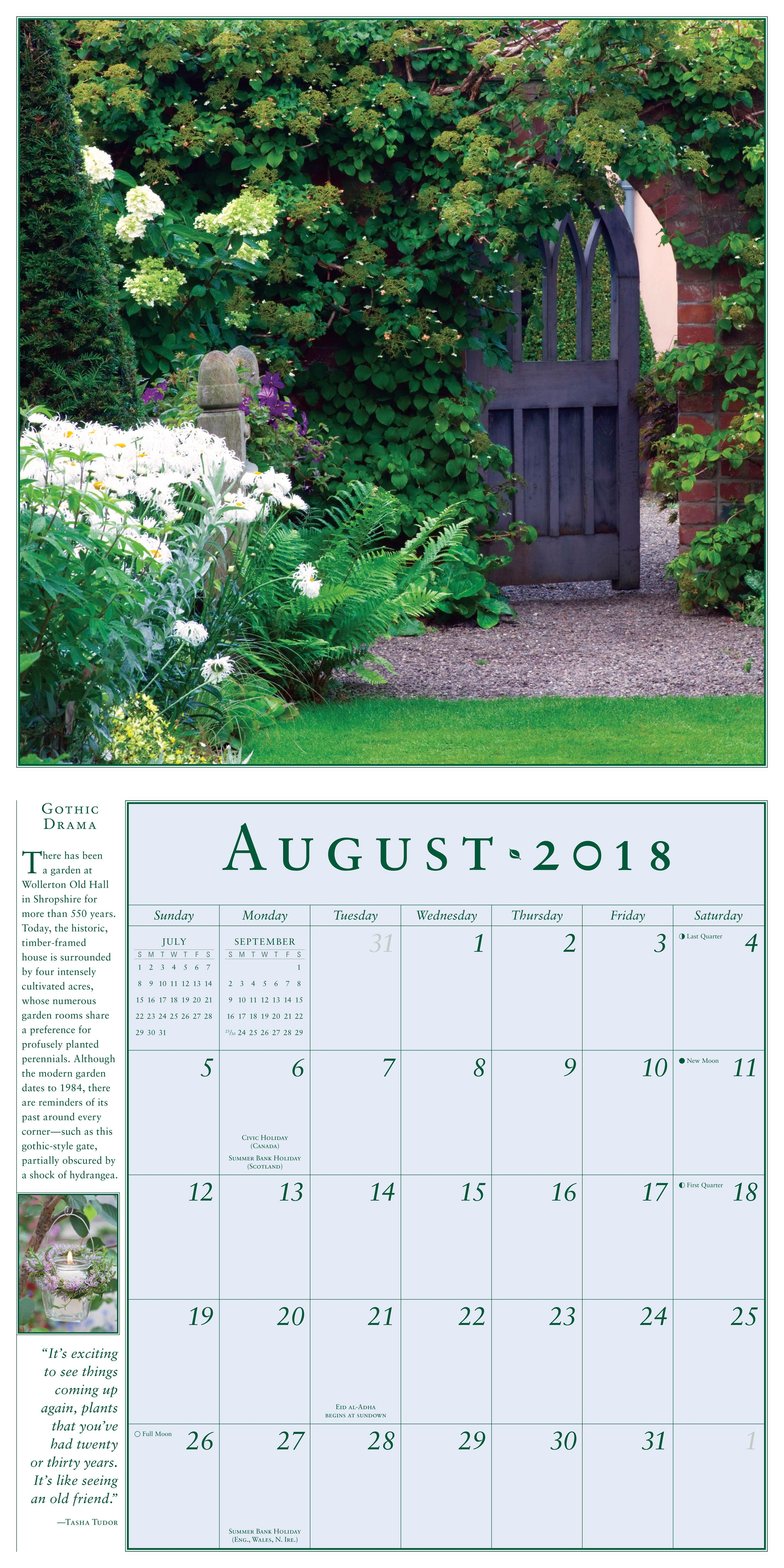 The Secret Garden Wall Calendar 2018 Workman Publishing 9780761193487 Books