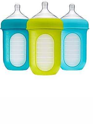 Boon, NURSH Reusable Silicone Pouch Bottle, 8 Ounce