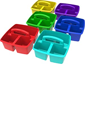 Storex Small Classroom Caddy Assorted Colors