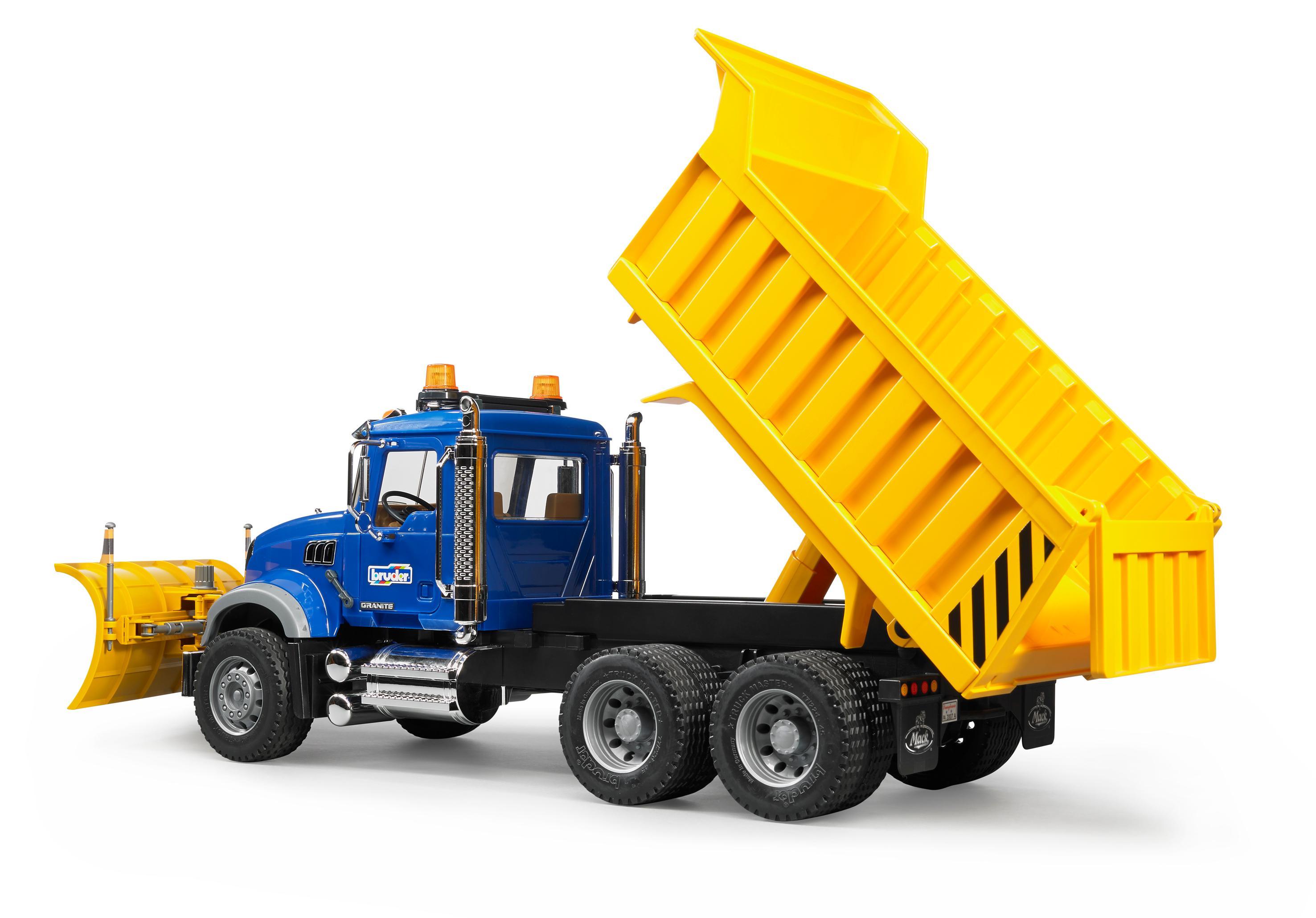 Amazon Com Bruder Mack Granite Dump Truck With Snow Plow