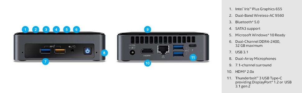Amazon Com Intel Nuc 8 Mainstream Kit Nuc8i5bek Core I5 Short Add T Components Needed Computers Accessories