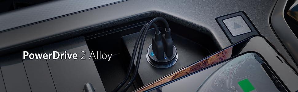 Dual Port Aluminum Case Power Drive Car Charger
