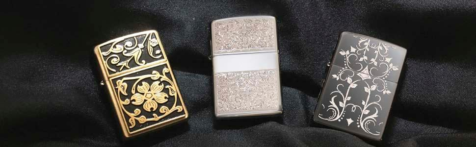 filligree lighters, filigree design lighter, zippo, zippo lighters, bronze flowers, elegant lighter