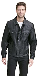 Leather Classic Trucker Jacket
