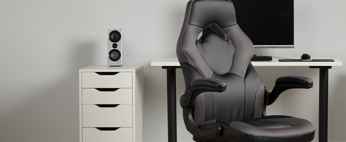 gray gaming chair