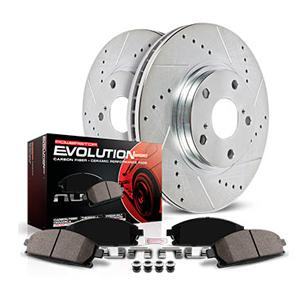 Power Stop K2148 Front and Rear Z23 Evolution Brake Kit with Drilled//Slotted Rotors and Ceramic Brake Pads
