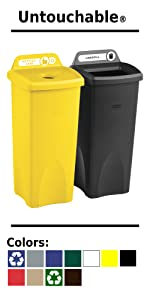 Rubbermaid Commercial Products BRUTE Trash Can Recycling Bin Waste Container Plastic Durable Lid