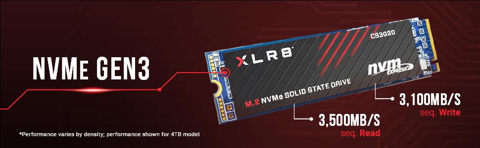 XLR8 CS3030 M.2 NVMe Gen3