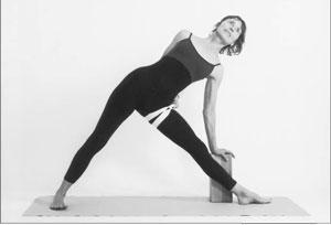 yoga, triangle pose