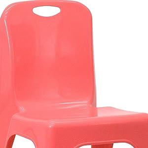 Amazon.com: Flash Furniture Silla escolar apilable de ...