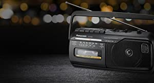 Panasonic RX-M40DE-K Mono Radio Recorder mit Kassettendeck
