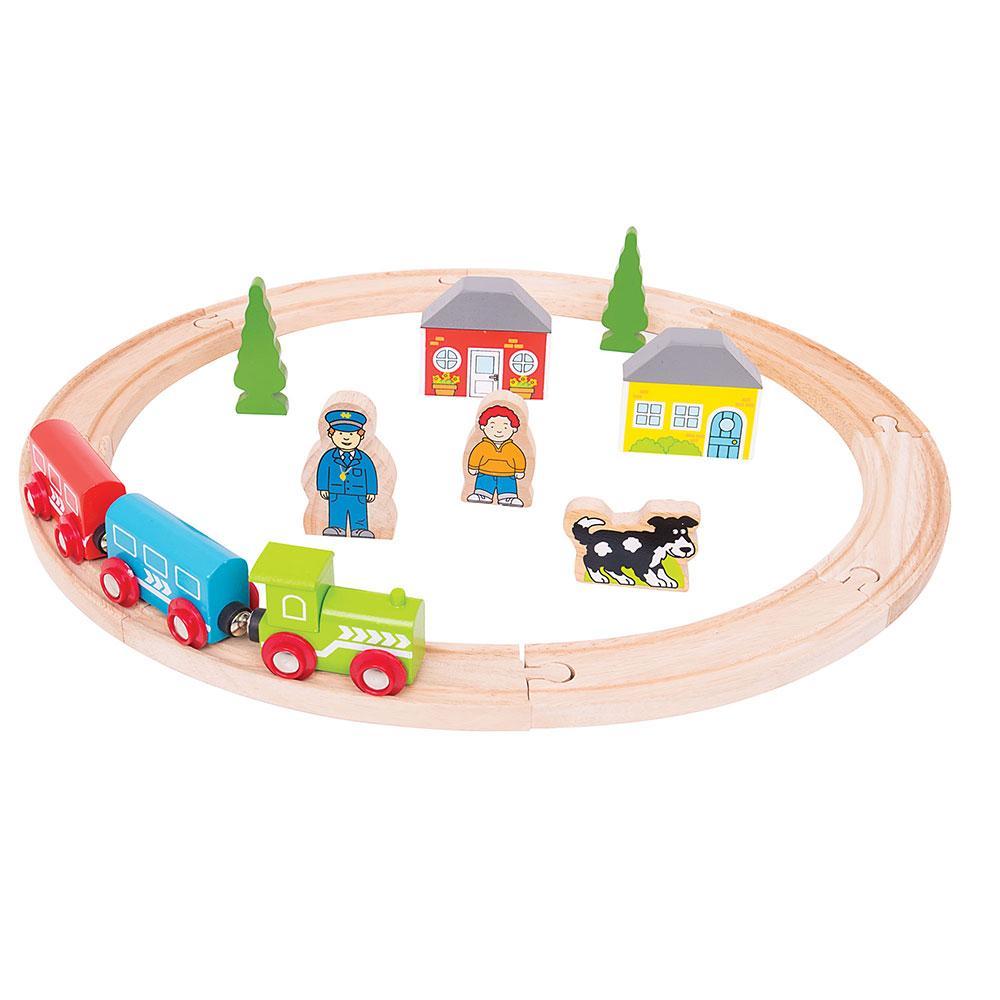 Amazon Com Bigjigs Rail My First Wooden Train Set