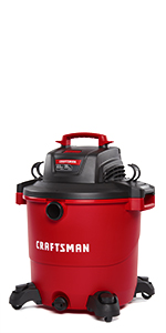 craftsman 20 gallon wet dry shop vacuum with attachments