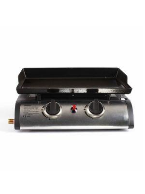 LIVOO Feel good moments - Plancha a gas 2 quemadores DOC150 Negro