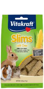 rabbit, guinea pig, hamster, rodent, treat, crunchy, Vitakraft, Slims, small animal, corn, yellow
