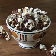 Popcorn Balls, Popcorn Peanut Clusters with Dark Muscovado Sugar