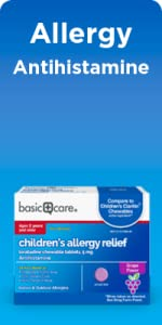 Amazon.com: Amazon Basic Care Children's All Day Allergy, Cetirizine  Hydrochloride Oral Solution 1 mg/mL, Grape Flavor, 8 Fluid Ounces: Health &  Personal Care