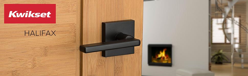 halifax, kwikset, door lever, contemporary, door handle