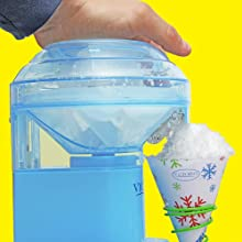 make shaved ice snow