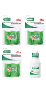 GUM ガム デンタルフロス&ピック Y字型 30P デンタルリンス