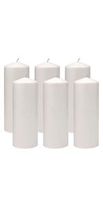 pillar, candle, ivory, white