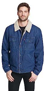 Denim Sherpa Lined Trucker Jacket