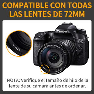 Kit Completo de filtros de Objetivos para Lentes de 72 mm de ...