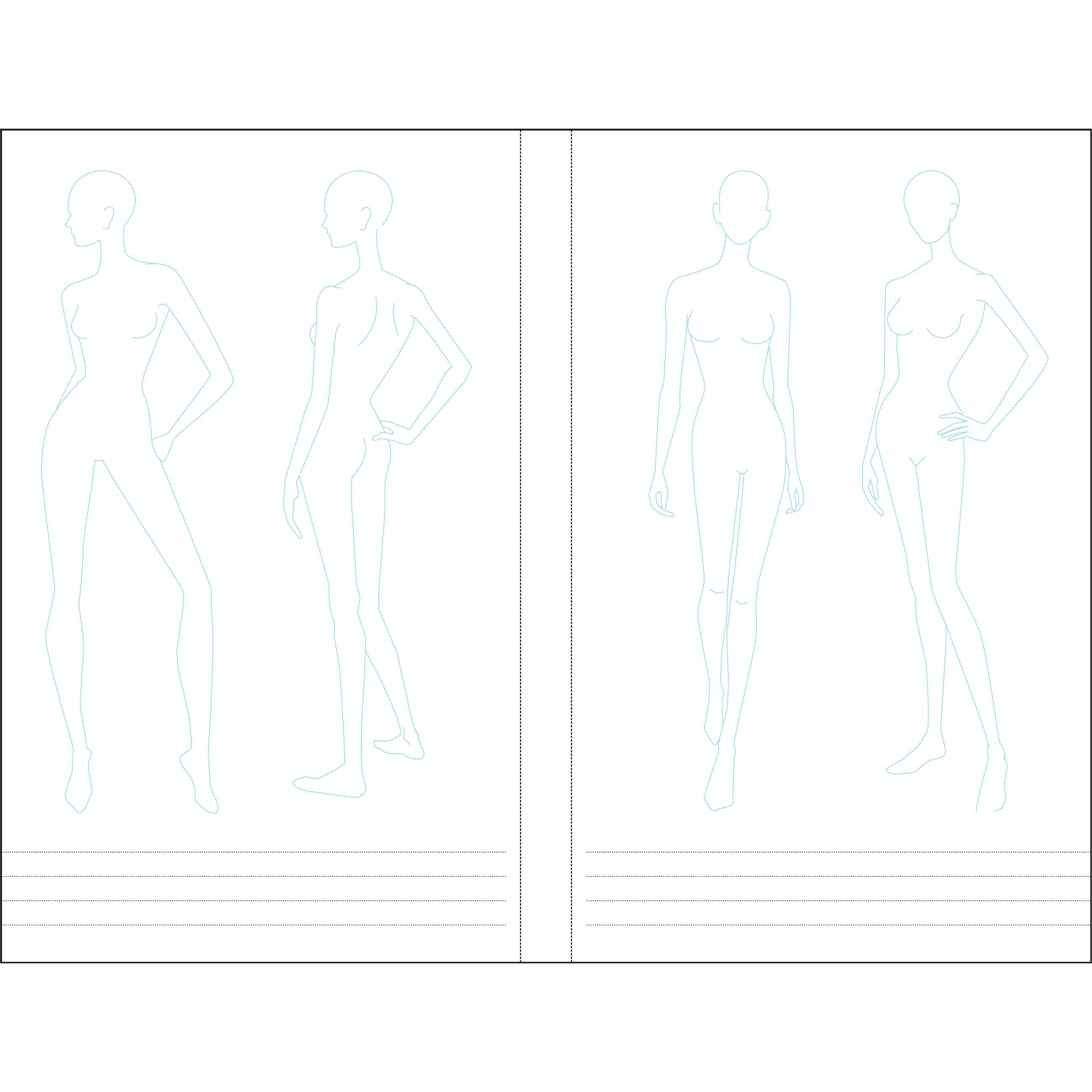 Essentials fashion sketchbook 366 figure templates to for Sketchpad com