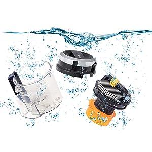 【水洗いOK】フィルター、ダストカップ丸ごと水洗いOK