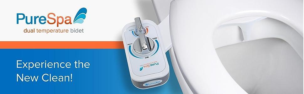 87509ffffc Brondell PSW-75 PureSpa Dual Warm Water Non-Electric Bidet ...