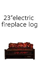 "23"" Electric Fireplace Log"
