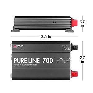 pure sine inverter, pure line inverter, wagan inverter, sine inverter, 12v inverter, power converter