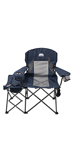 Folding Camping Chair with Side Cooler Bag